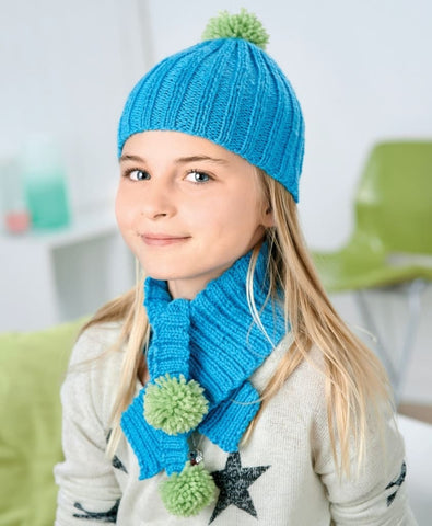 Kids Knitted Set: Beanie Mittens Mittens - Baby Clothes