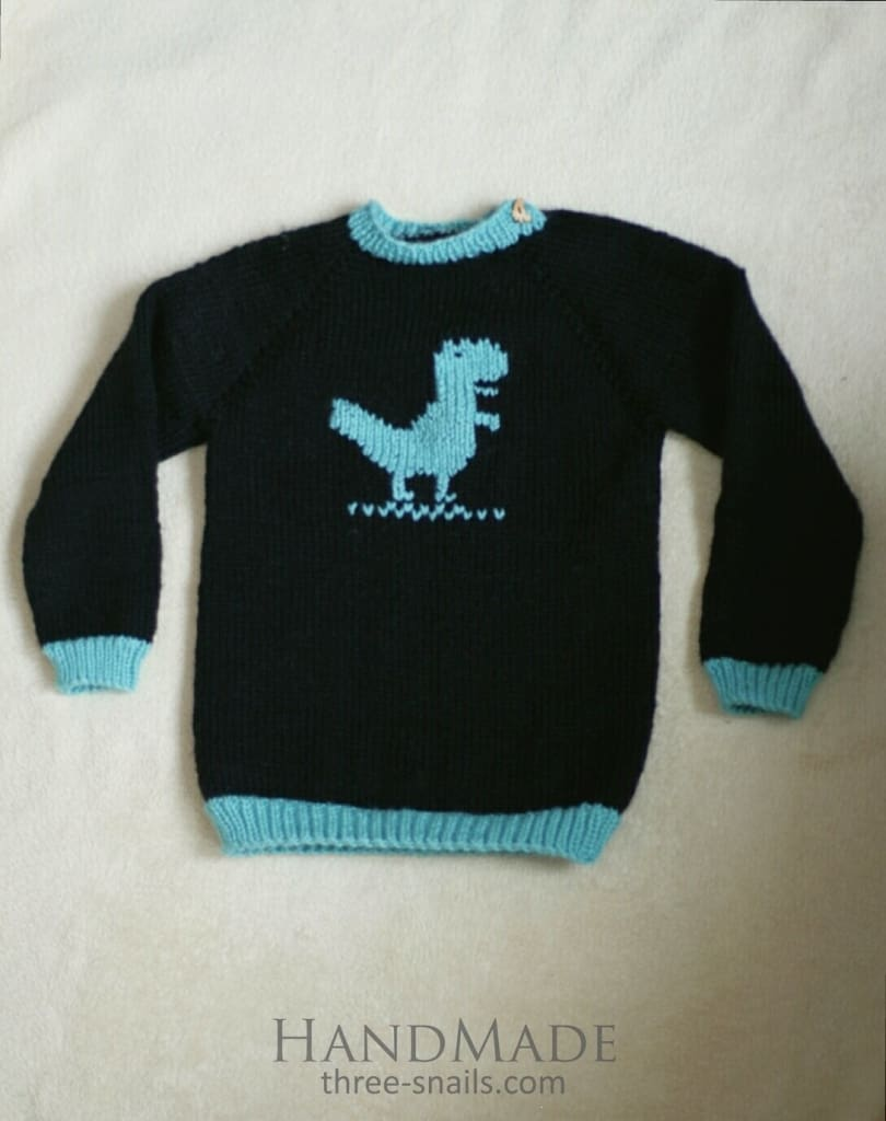 Knitted Baby Sweater Dino - Baby Clothes