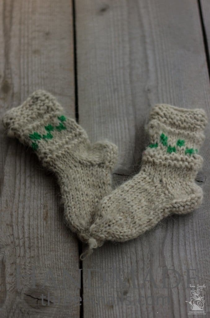 Knitted Children Socks Christmas Tree - Baby Clothes
