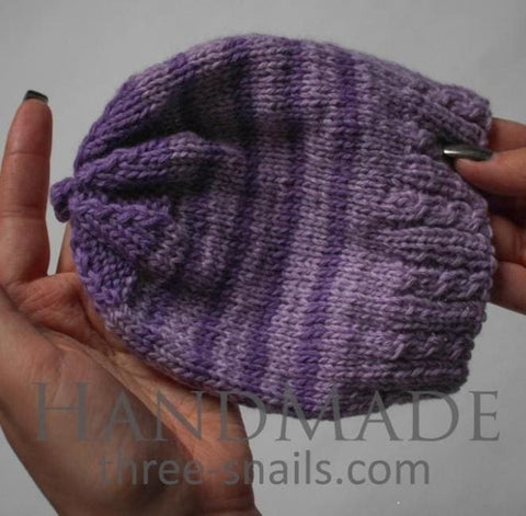 Knitted Hats For Babies Violet Stripes - Baby Clothes