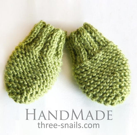 Knitted Mittens For Baby Forest - Baby Clothes