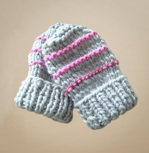 Knitted Mittens For Baby Happy Snowflakes - Baby Clothes