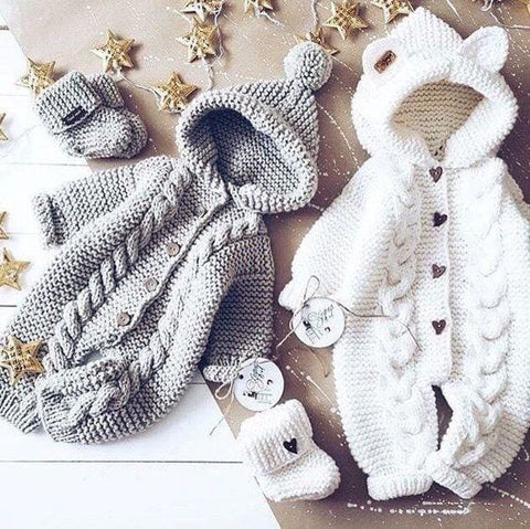 Knitted Rompers For Babies - Baby Clothes
