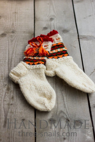 Knitted Socks Wool Cheerful Rest - Baby Clothes