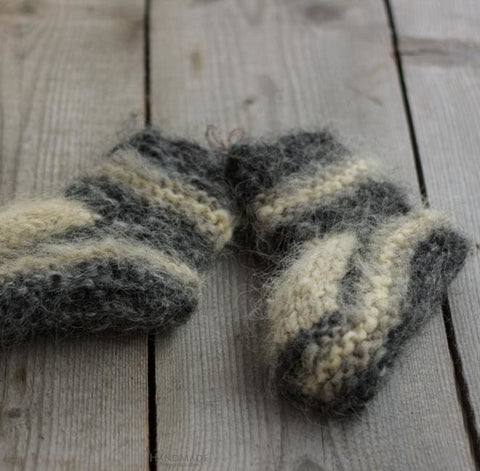 Knitted Teenager Boots Woolly - Baby Clothes