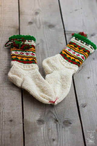 Knitted Wool Socks Festive - Baby Clothes