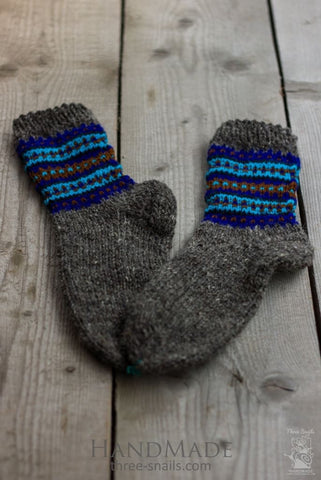Knitted Wool Socks Winter Sky - Baby Clothes