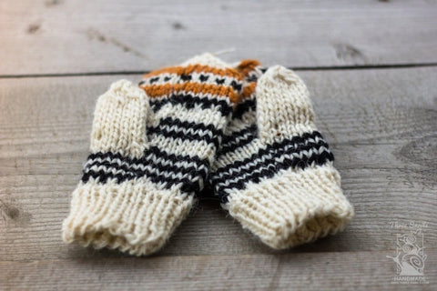 Knitted Woolen Mittens Eco Winter - Baby Clothes