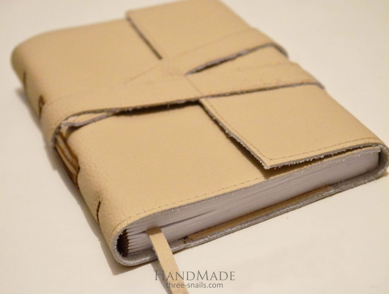 handmade leather diary