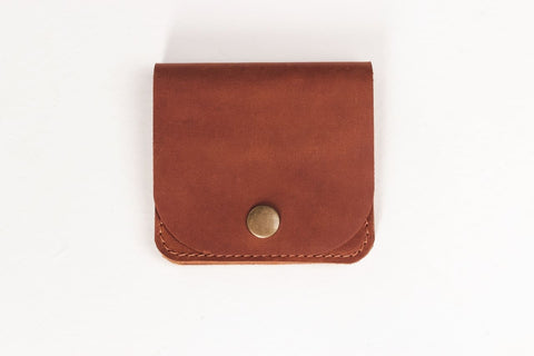 Leather Card Holder Brown Prestige - Vasylchenko1
