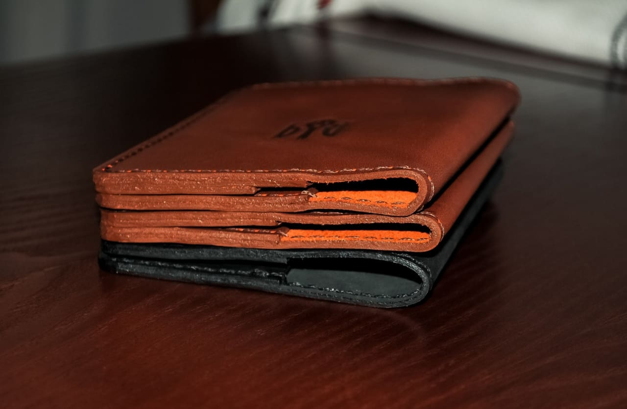 Leather Passport Cover Brown - Vasylchenko1