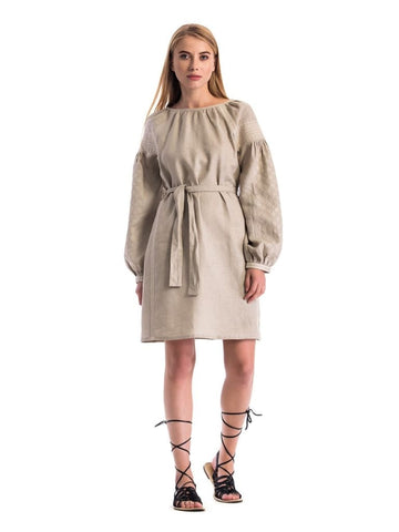Linen Dresses For Women Detailed Embroidery - Melnichenko1