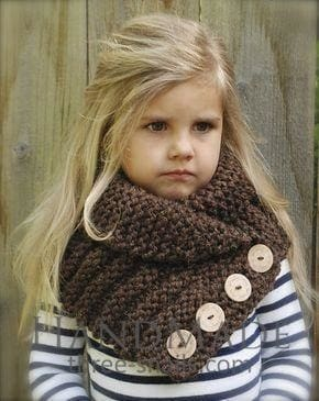 Little Girl Scarf Knitted Collar - Baby Clothes