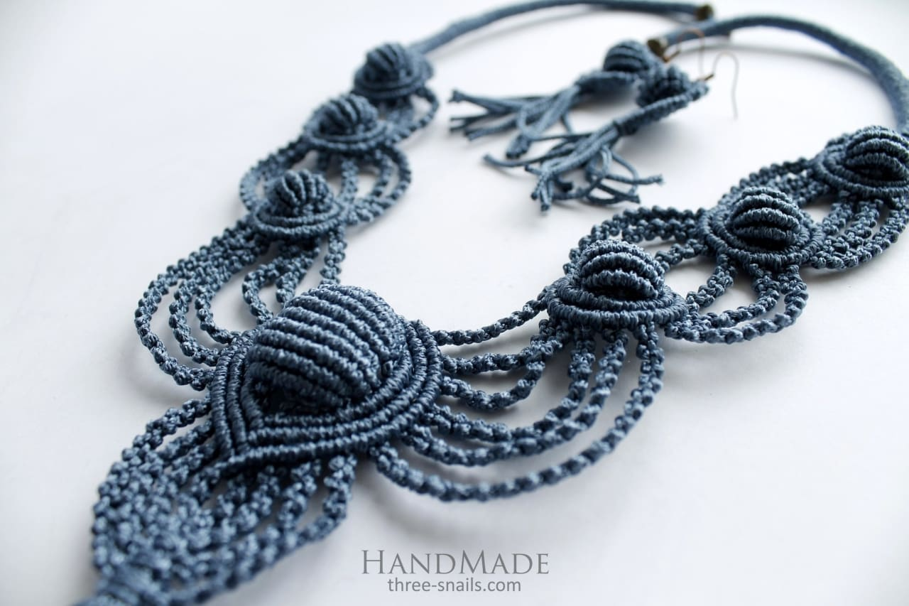 Macrame Fashion Necklaces Lace - Melnichenko1