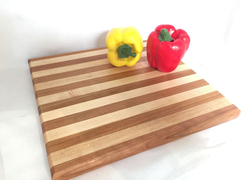 Maple And Cherry Grain Cutting Board - Cutting Board