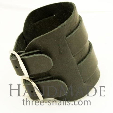Mens Leather Cuff Bracelets Punk - Melnichenko1