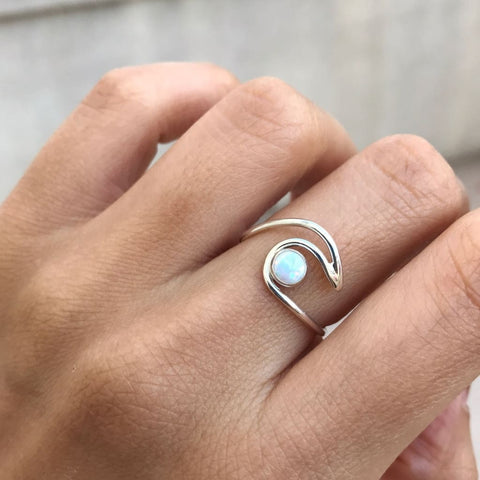 Moonstone Wave Ring - Ring