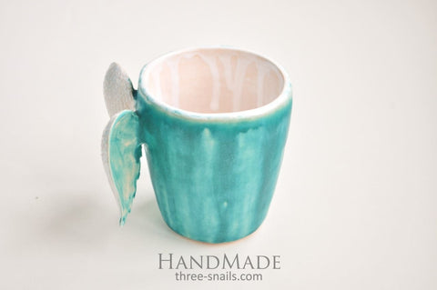 Mug With Wings Sky Blue - Cup And Mug