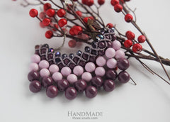 Necklace Of Glass Beads Blackberry Cocktail - Vasylchenko1