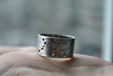 Personal Silver Ring With Constellation - Vasylchenko1