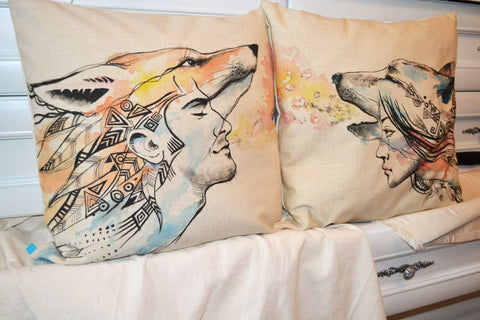 Pillow Design For Him And Her. «Enamored» Set - Pillow