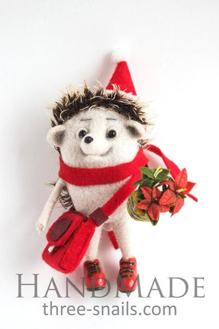 Popular Christmas Toys Hedgehog With Flower  - Vasylchenko1