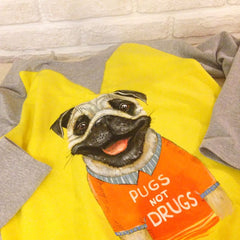 «Pugs Not Drugs» Sweatshirt - Vasylchenko1