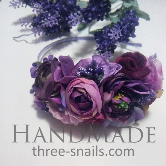 Purple Hair Accessories. Headband «Provence» - Melnichenko1