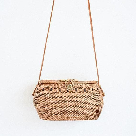 Rattan Basket Rossbody Bag - Bag