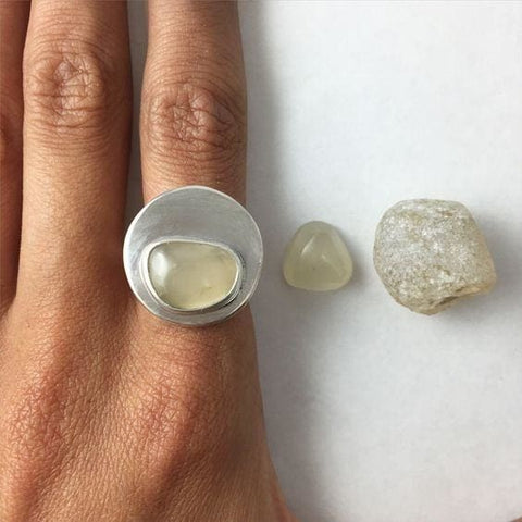 Raw Topaz Ring - Ring