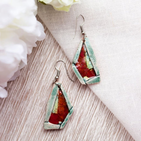 Red Earrings Abstraction - Vasylchenko1