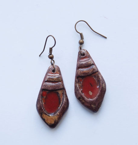 Red Earrings Clay Chic - Melnichenko1