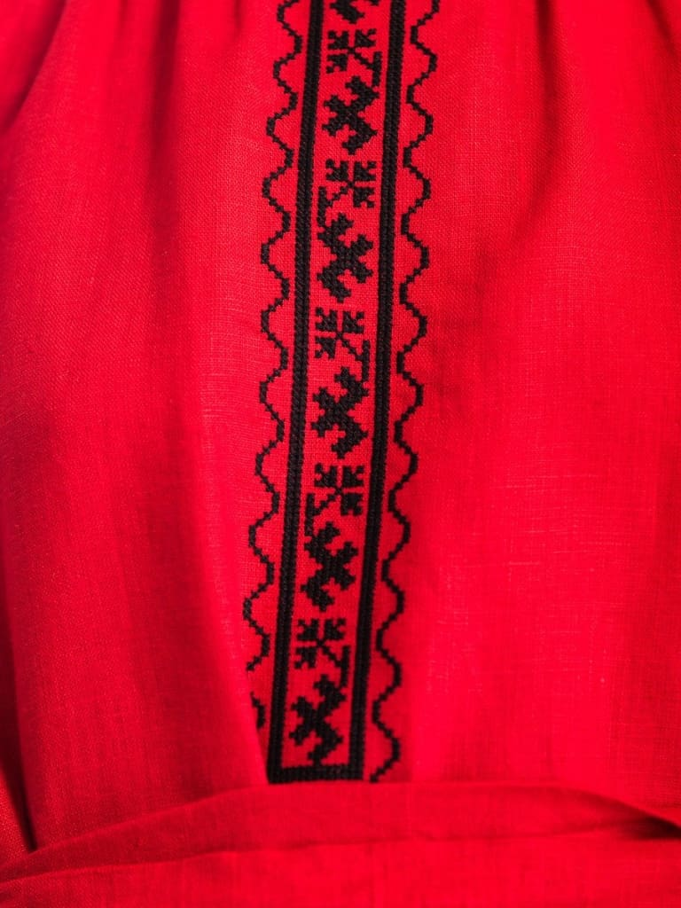 Red Embroidered Dress Passion  - Melnichenko1