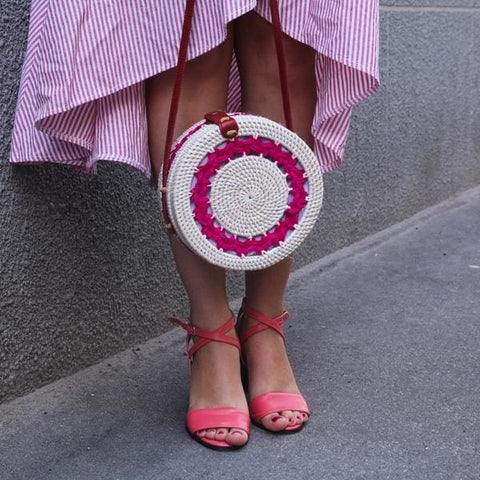 Round Wicker Bag - Bag