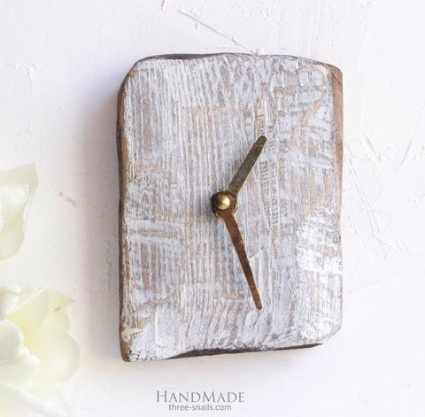 Rustic Wood Wall Clock Small Time To Act - Clock