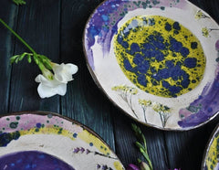 Eramic Serving Bowls Dandelion  - Plate