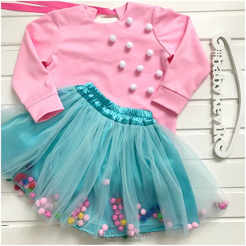 Set For Girl With Tutu Skirt - Baby Clothes