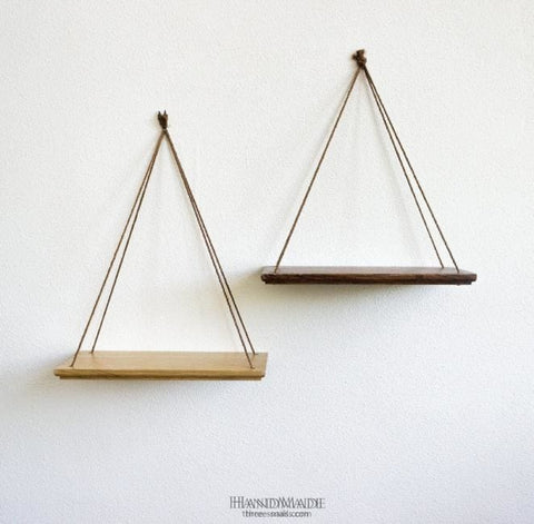 Set Of 2 Hanging Shelves «He And She» - Popovichenko