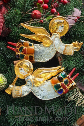 Set Of Glass Angels Christmas Gifts - Melnichenko1
