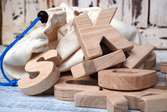 Set Of Wooden Letters Alphabet - Toy
