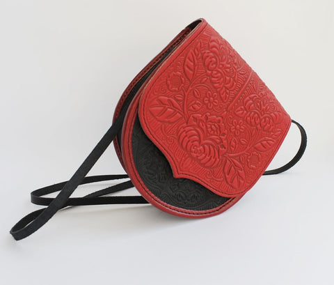 Shoulder Bag Red Texture - Melnichenko1