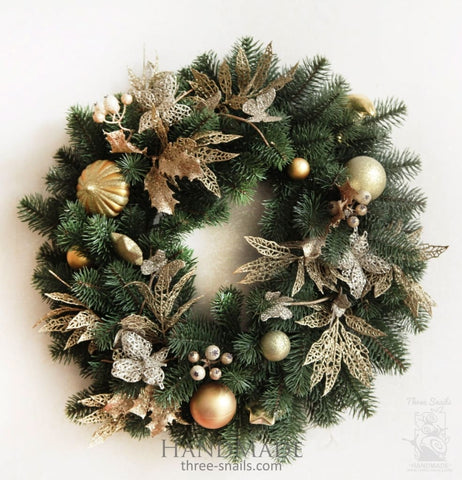 Hristmas Door Wreath Holidays - Vasylchenko1
