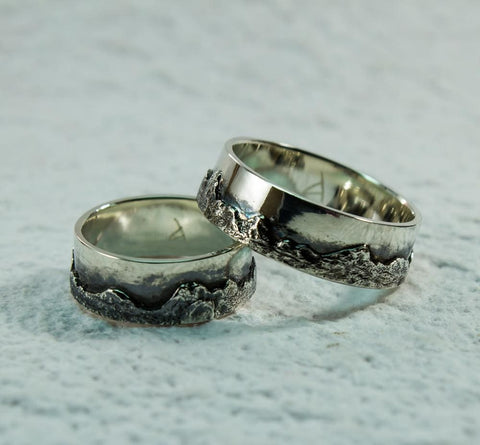 mountain rings set