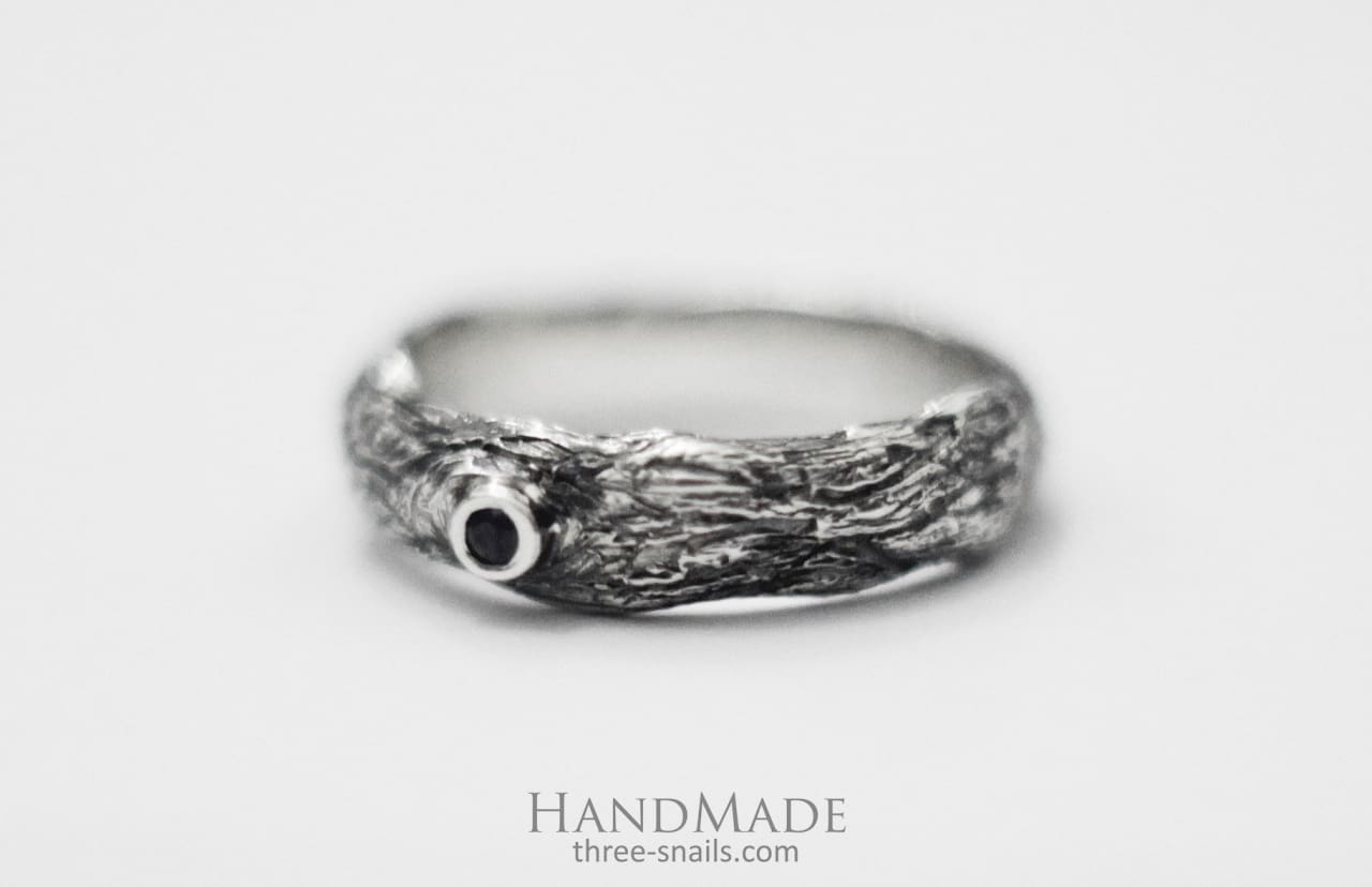 Silver Ring Tree Bark - Melnichenko1