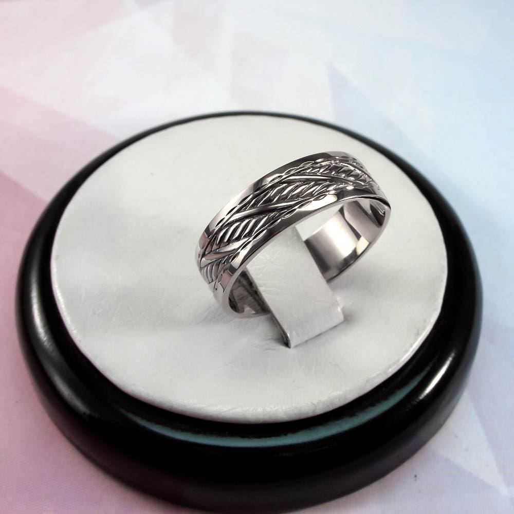 Silver Ring With A Carved Ornament - Vasylchenko1