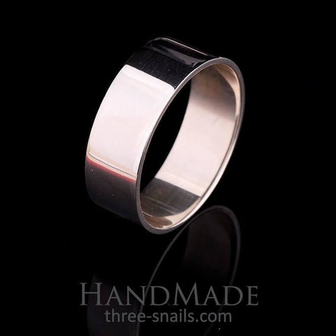 Simple Silver Ring For Man Style - Vasylchenko1