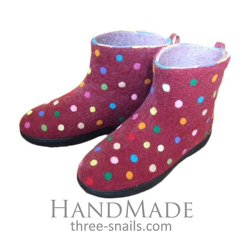 Slipper Boots Multicolored Polka Dots - Vasylchenko1