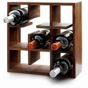 Solid Wood Wine Bottles Shelf - Vasylchenko1