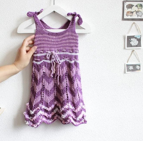 Rochet Baby Dress Violet Style - Baby Clothes