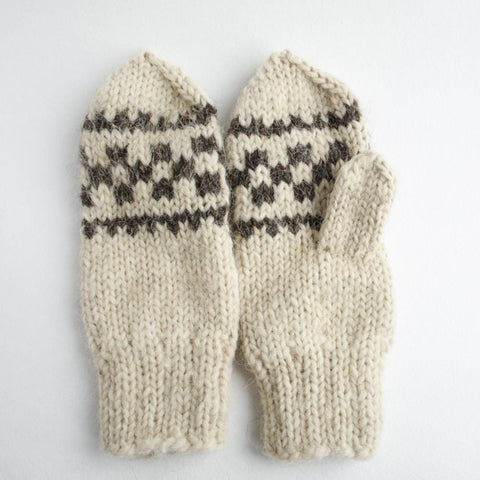 Rochet Mittens Gray Pattern - Baby Clothes
